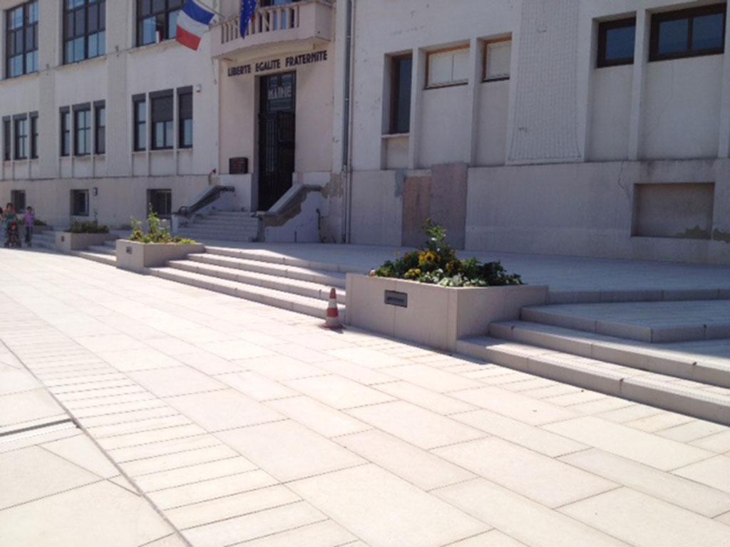 street flagstrones kerbs steps decines SETP