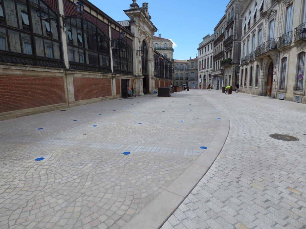 cobblestones gutters béziers halles 2016