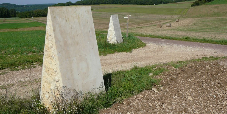 Bollards on an ancient Roman road