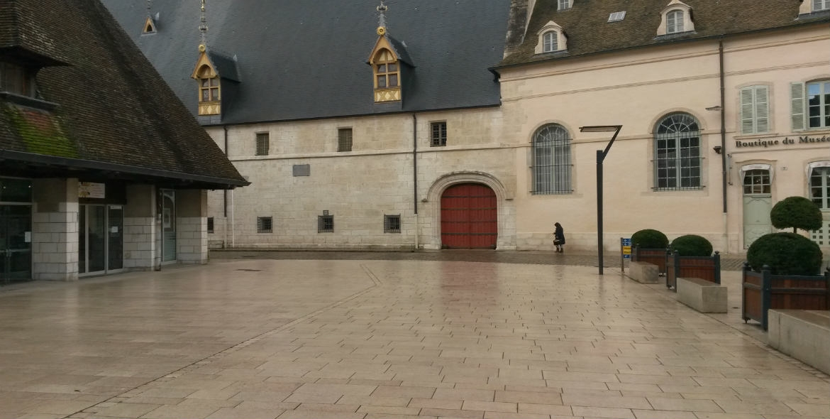 Front of the Hospices de Beaune