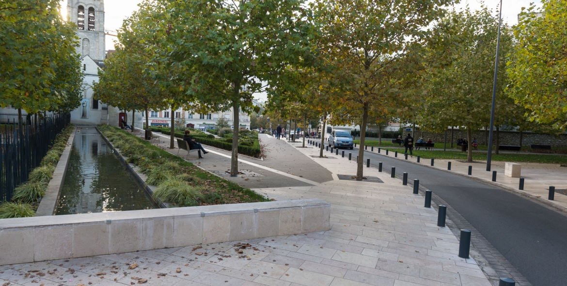 Highways and open spaces development in Maison-Alfort