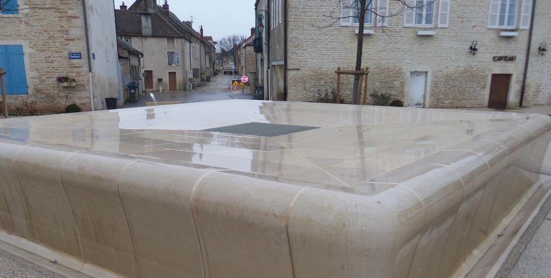 Fountain in Puligny