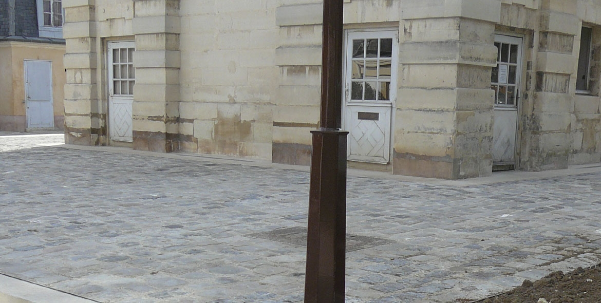Gutters in Versailles sidewalks