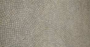 Cobbles laid in fan patterns