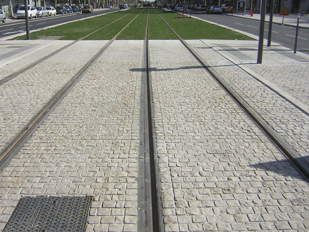 Urban development tram rails