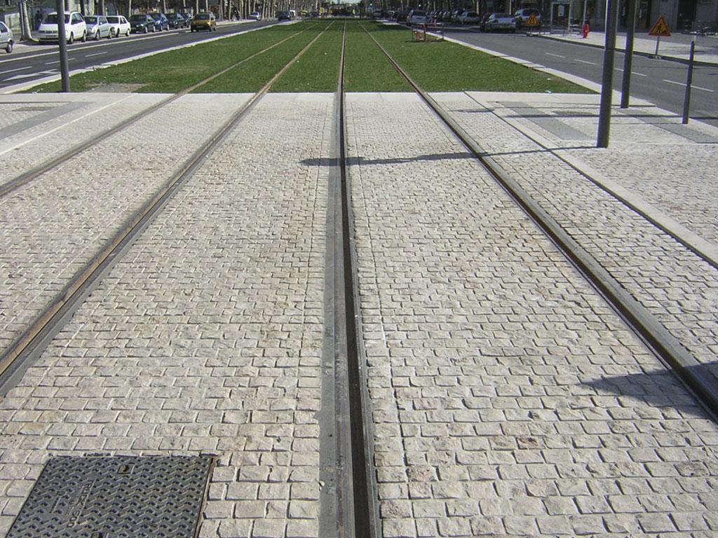 Urban development tram rails