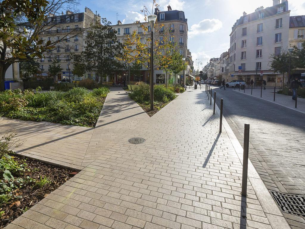 Urban development sidewalks